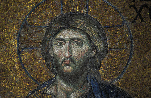 Detail of  Mosaic in Hagia Sophia